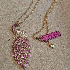 NWT Betsey Johnson Peacock necklace